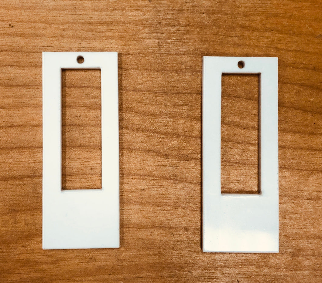 "Open Rectangle Earring (2.25"") Blanks for Sublimation"