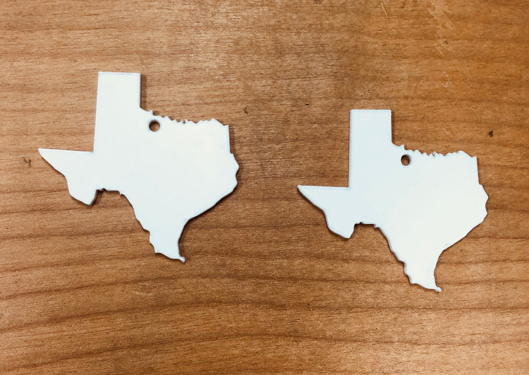 "Texas Shaped Earring (1.75""L) Blanks for Sublimation"