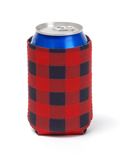 Neoprene Red Buffalo Plaid Can Cooler