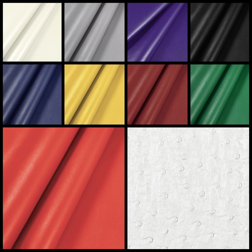 Faux 1-Sided Leather Sheets (Solid Colors)