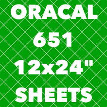 "Oracal 651 **LONG SHEETS** (24"" Length)"