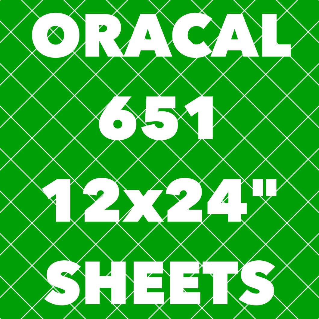 Oracal 651 **LONG SHEETS** (24