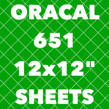 "Oracal 651 12x12"" Sheets"
