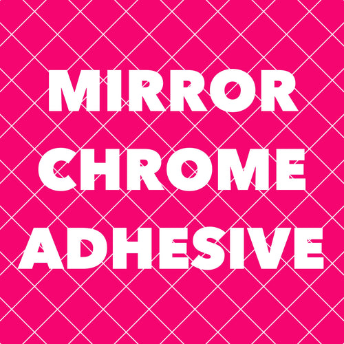 Mirror Chrome Adhesive Vinyl 12x12 Sheets