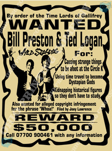 bounty wanted poster bill ted ohio printing company