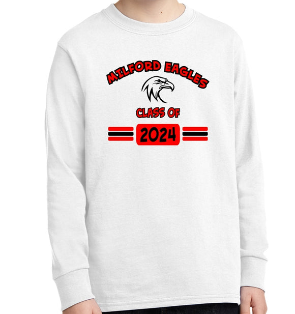 Milford eagles eagle class of long sleeve tee ohio for T shirt printing loveland co