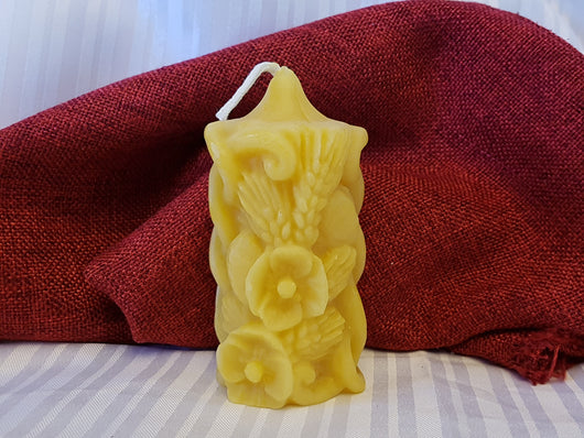 Wheat Rose- pure beeswax candle 2