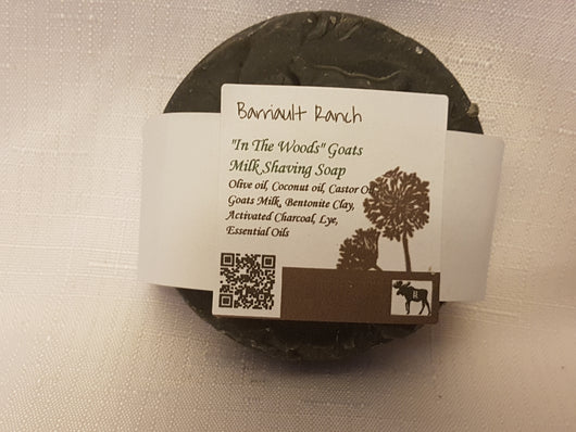 In The Woods - Goats Milk Shaving SoapSoaps- Barriault Ranch