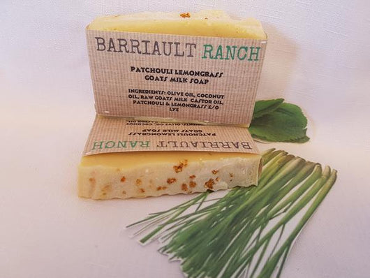 Patchouli Lemongrass Goats Milk SoapSoaps- Barriault Ranch