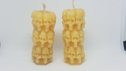 Skull Pillar - Pure Beeswax Candle. 3