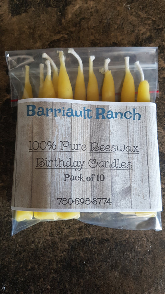 Pure beeswax birthday candles- Barriault Ranch