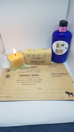 Gift certificate- Barriault Ranch