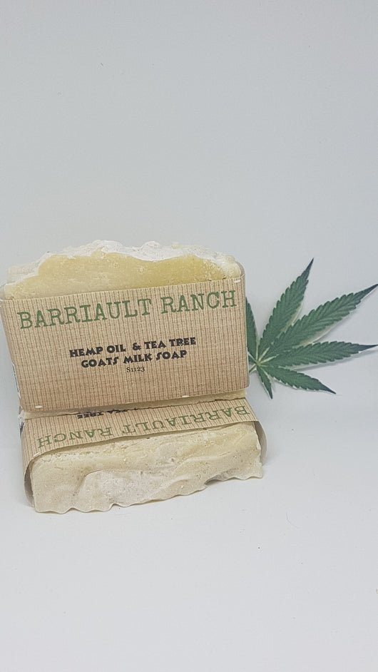 Hemp & Tea Tree Goats Milk SoapSoaps- Barriault Ranch
