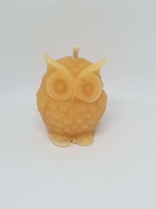 Owl votive - beeswax candleCandles- Barriault Ranch