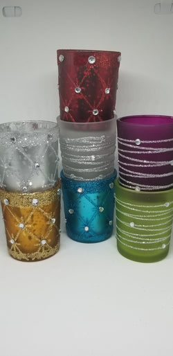 Pure beeswax tealights with glass holderCandles- Barriault Ranch