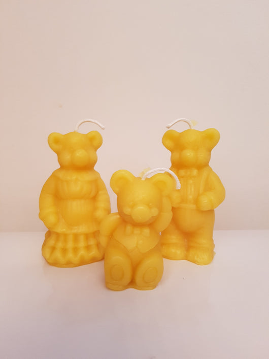Bear family - pure beeswax candlesCandles- Barriault Ranch