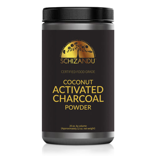 Certified Food Grade, Organic Coconut Activated Charcoal Powder, 25 oz JAR (12 oz by WEIGHT),Powder form - Schizandu