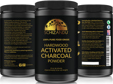 100% Pure FOOD GRADE Activated Charcoal Powder - Large, 32 oz Size Jar,Powder form - Schizandu