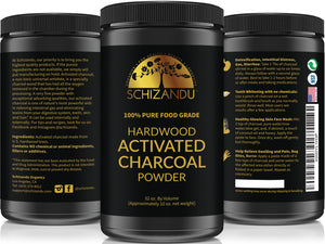 100% Pure FOOD GRADE Activated Charcoal Powder - Large, 32 oz Size Jar