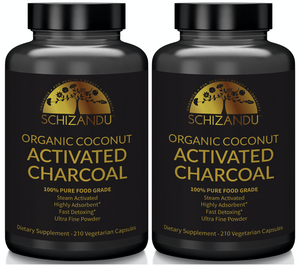100% Pure, Organic Activated Coconut Charcoal Capsules - 210 count,Capsules - Schizandu