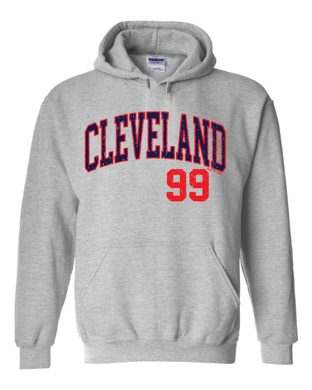 """Arched Cleveland #99"" Baseball Design on Gray - Only in Clev"