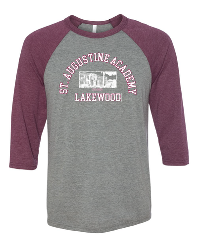 """St. Augustine"" Design on Raglan 3/4 Quarters"
