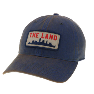 The Land Patch on Blue Washed Trucker Hat