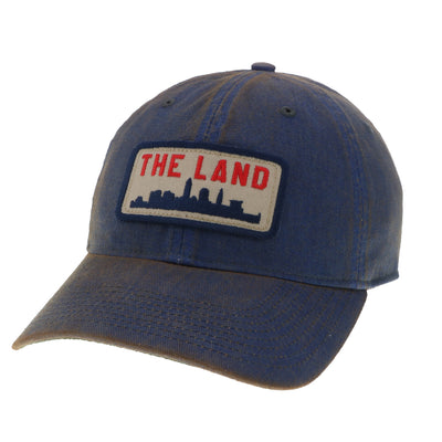 The Land Patch on Blue Washed Hat - Only in Clev