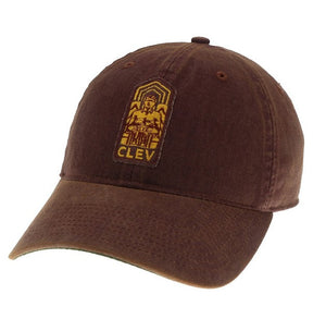Guardian Patch on Washed Maroon Dad Hat