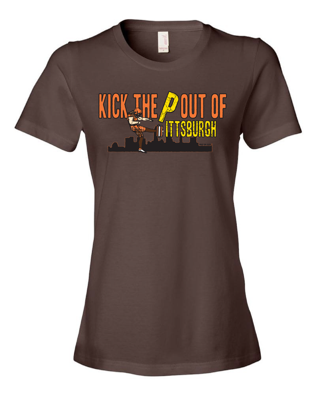 """Kick the ""P"" out of Pittsburgh"" on Brown - Only in Clev"