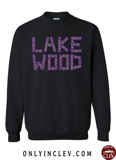 Lakewood Streets Design Crewneck Sweatshirt