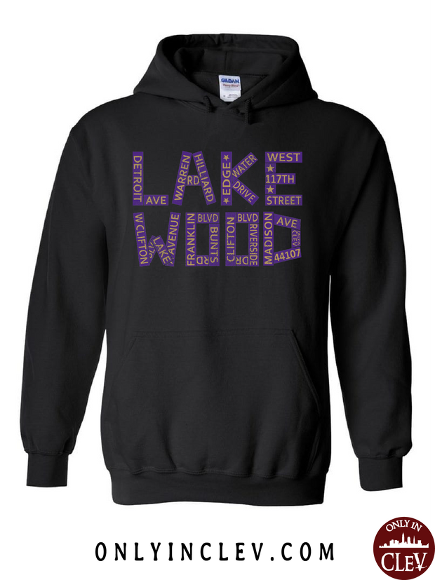 Lakewood Streets Design Hoodie - Only in Clev