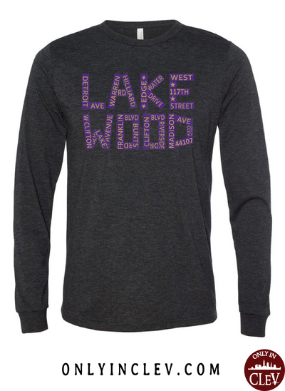 Lakewood Streets Design Long Sleeve T-Shirt - Only in Clev