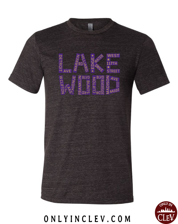 Lakewood Streets Design T-Shirt - Only in Clev