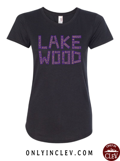 Lakewood Streets Design Womens T-Shirt - Only in Clev