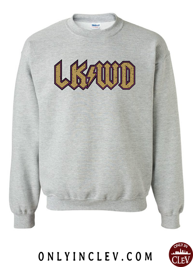 """LKWD"" T Shirt on Gray - Only in Clev"
