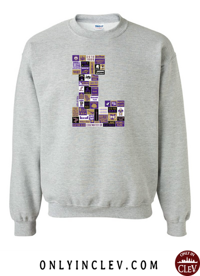 "Lakewood Neighborhood Shirt ""L Design"" Crewneck Sweatshirt - Only in Clev"