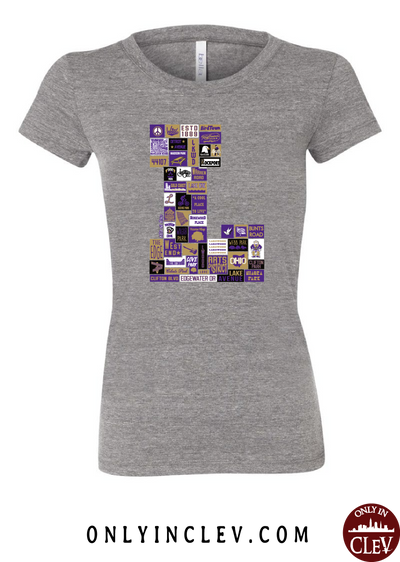 "Lakewood Neighborhood Shirt ""L Design"" Womens T-Shirt - Only in Clev"