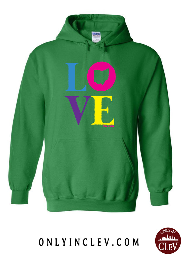 """Ohio Love"" Design on Green - Only in Clev"