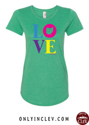"""Ohio Love"" Design on Green"