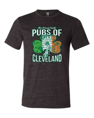 """Pubs of Cleveland"" Design on Black"