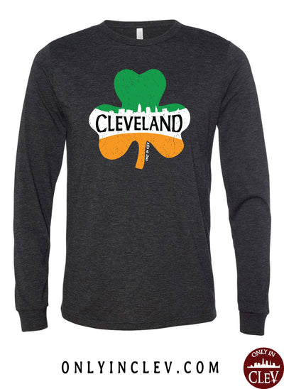 Cleveland Irish Shamrock Long Sleeve T-Shirt - Only in Clev