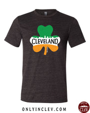 """Cleveland Shamrock"" Design on black - Only in Clev"