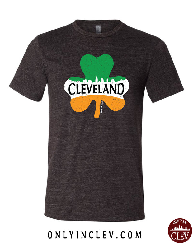 """Cleveland Shamrock"" Design on black"