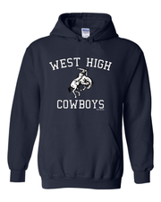 """West High Cowboys"" Design on Navy"