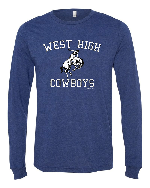 """West High Cowboys"" Design on Navy - Only in Clev"