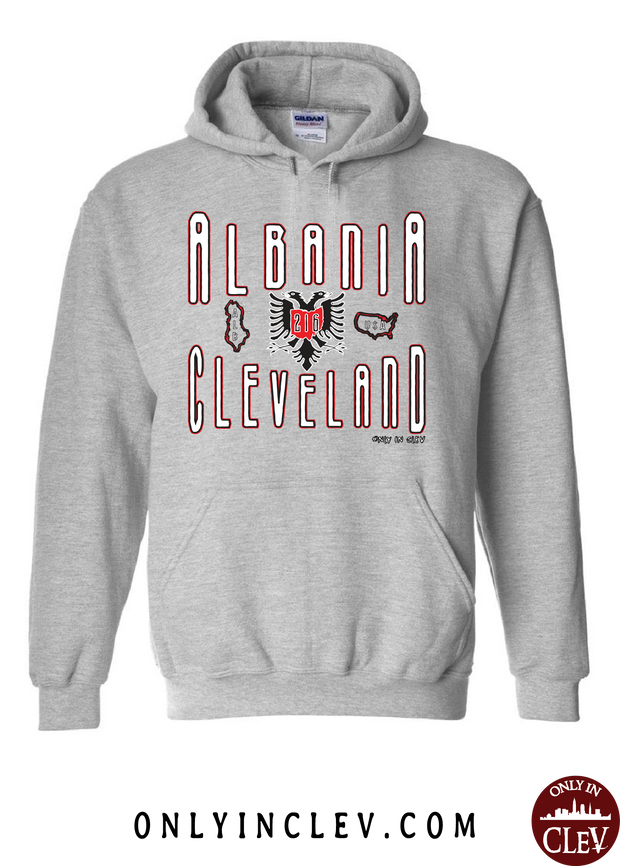 """Cleveland Albania"" Design on Gray"