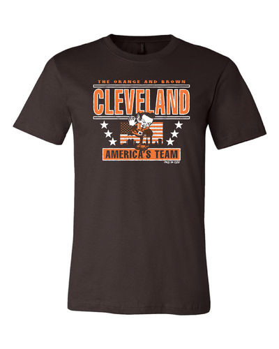 """America's Team"" T Shirt on Brown"