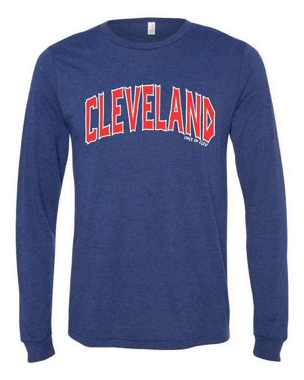 """Arched Cleveland"" Baseball Design on Navy - Only in Clev"