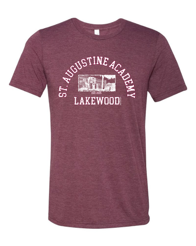 """St. Augustine Academy"" Design on Maroon"